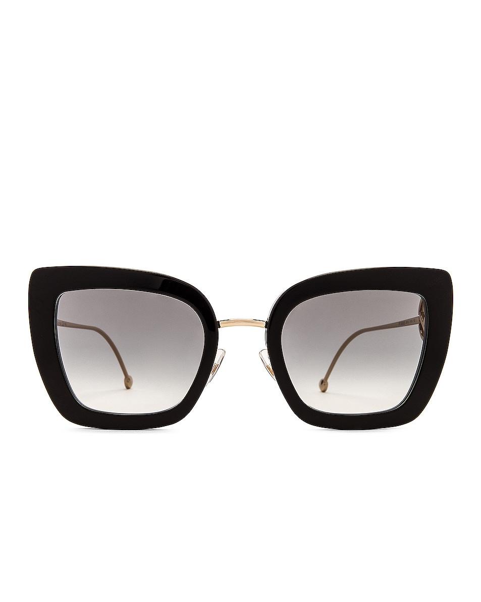 Image 1 of Fendi Logo Cat Eye Sunglasses in Black