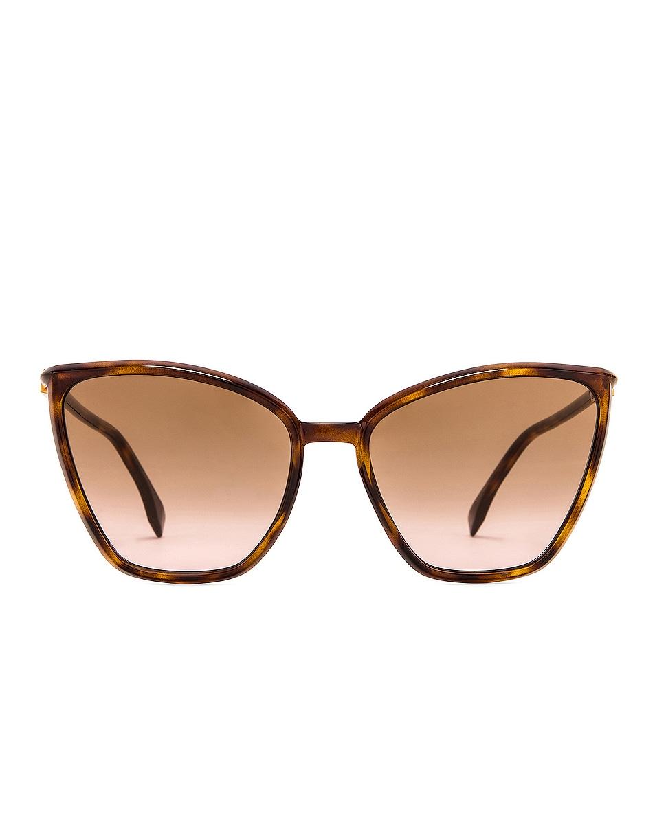 Image 1 of Fendi Square Sunglasses in Dark Havana