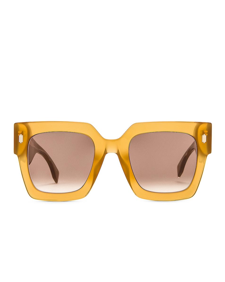 Image 1 of Fendi Square Sunglasses in Brown