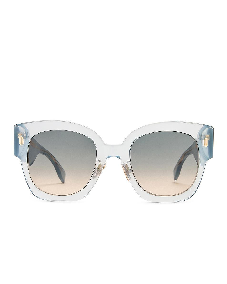 Image 1 of Fendi Acetate Sunglasses in Azure