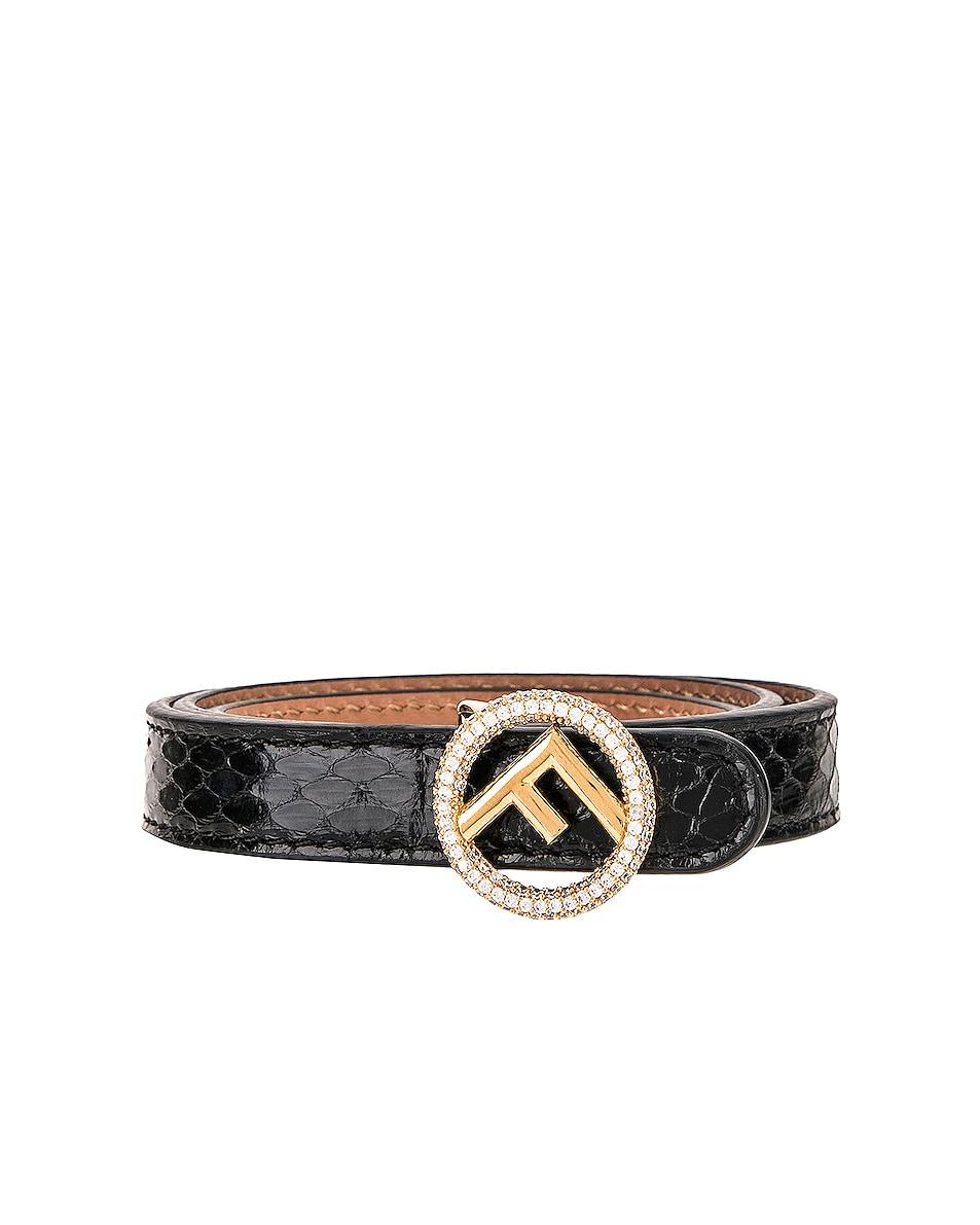 Image 1 of Fendi Small Logo Belt in Black