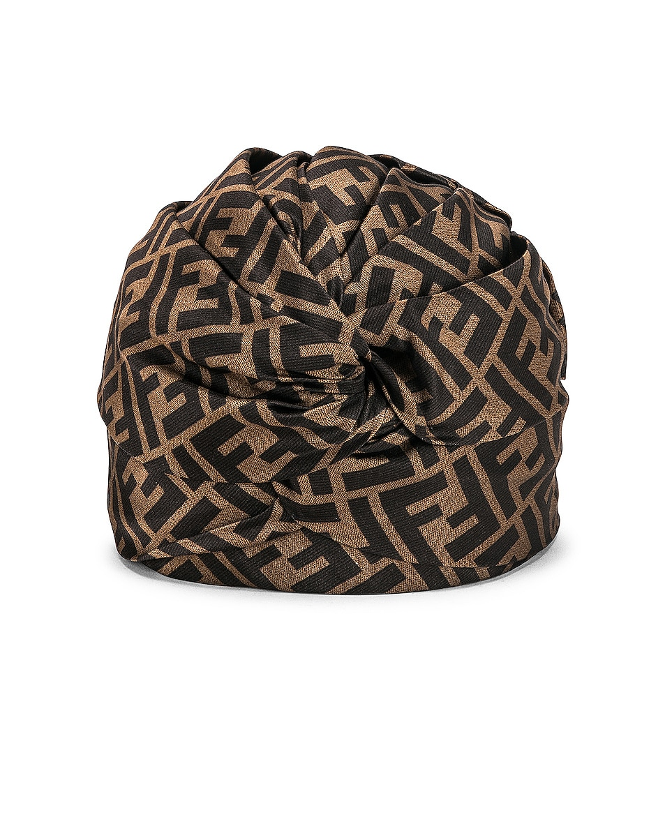 Image 1 of Fendi Logo Hat in Brown