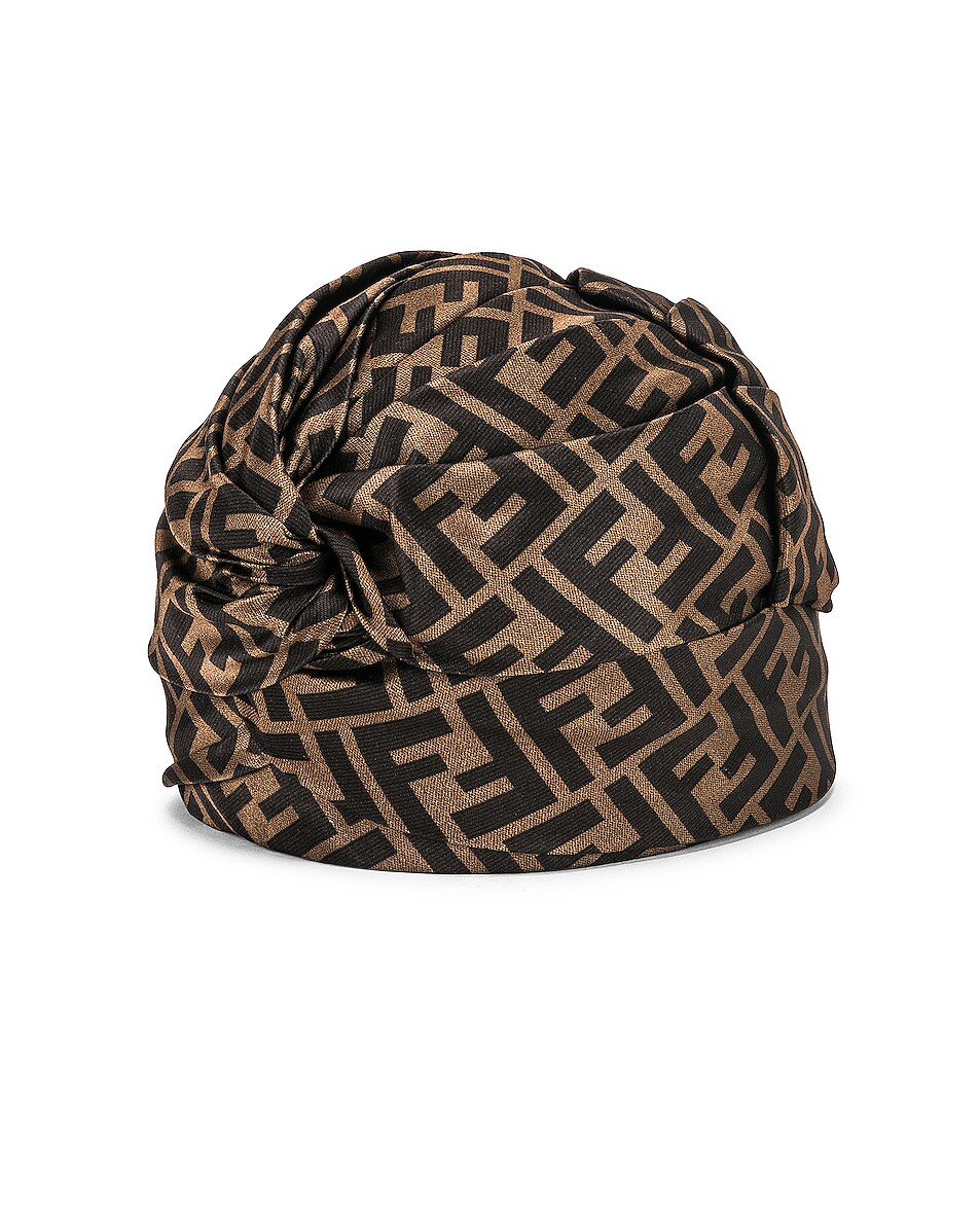 Image 2 of Fendi Logo Hat in Brown