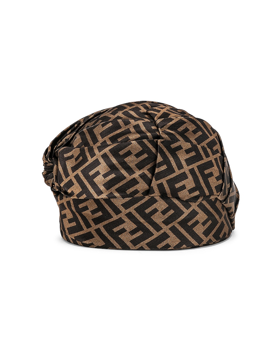 Image 3 of Fendi Logo Hat in Brown