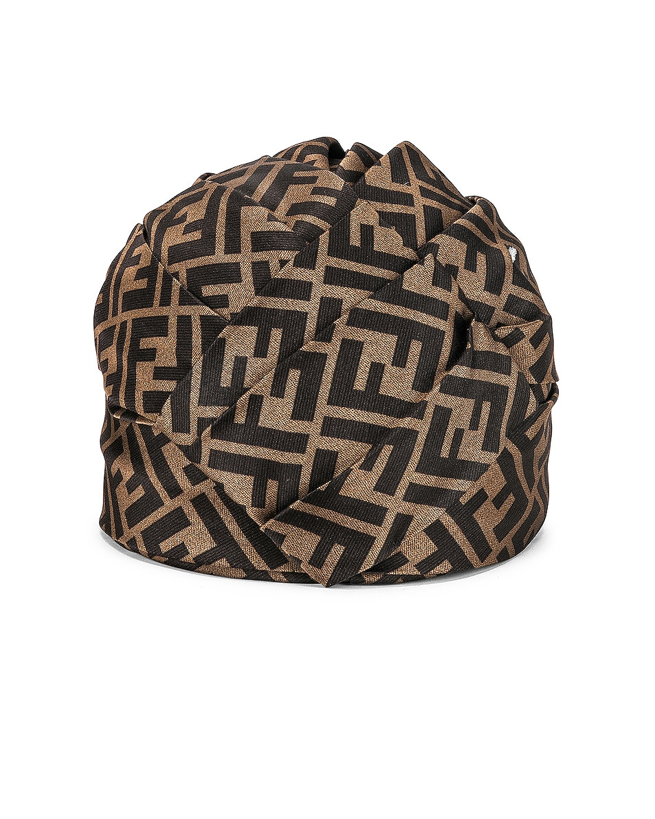 Image 4 of Fendi Logo Hat in Brown