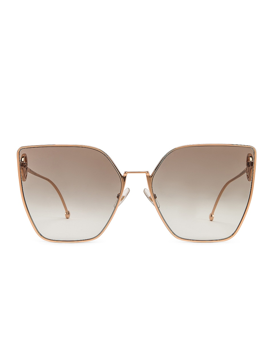Image 1 of Fendi Oversized Square Sunglasses in Gold & Copper