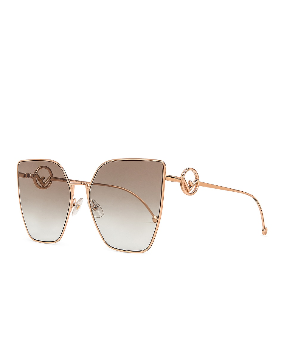 Image 2 of Fendi Oversized Square Sunglasses in Gold & Copper