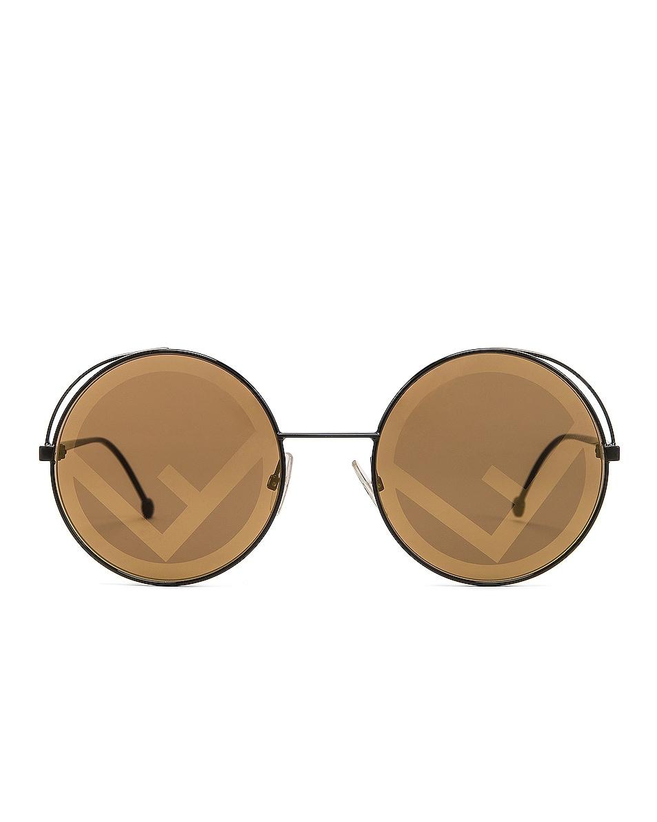 Image 1 of Fendi Round Sunglasses in Black