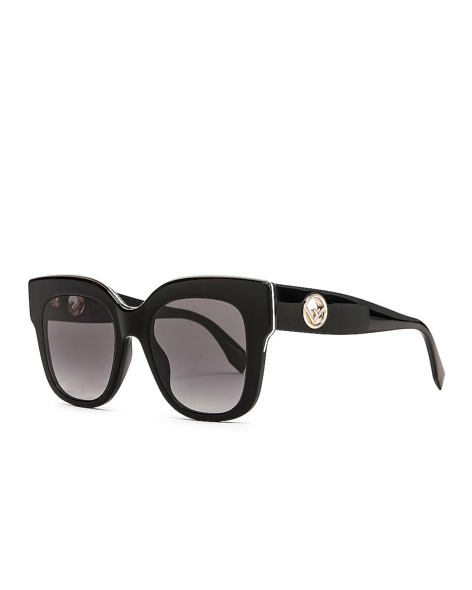 Image 2 of Fendi Square Sunglasses in Black