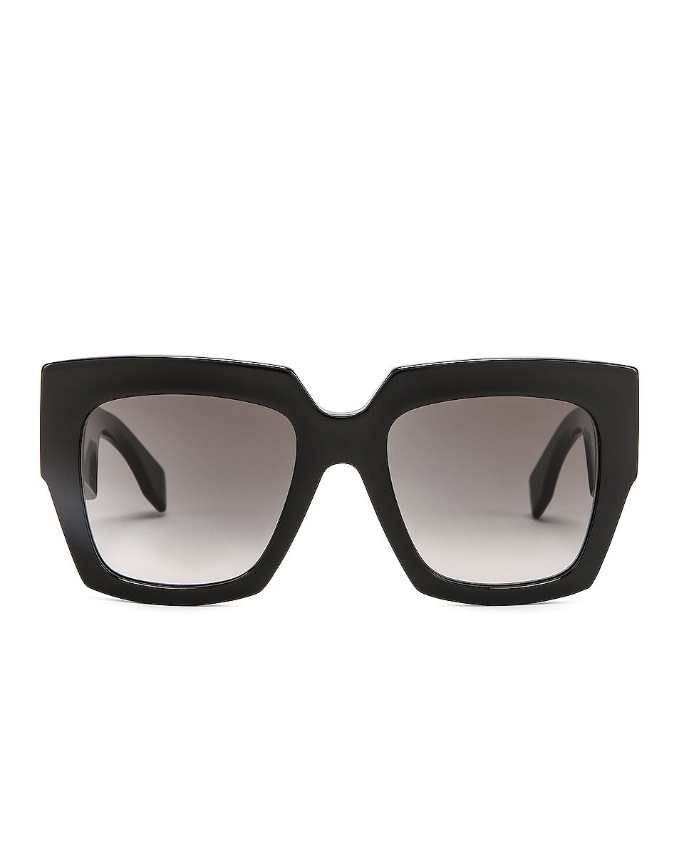 Image 1 of Fendi Square Sunglasses in Black