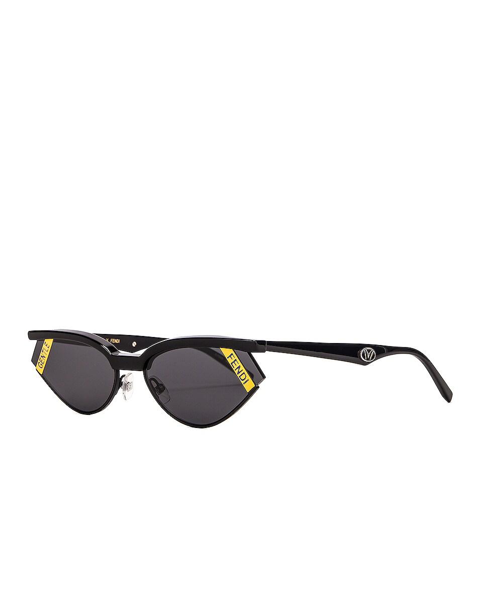 Image 2 of Fendi Small Gentle Fendi Sunglasses in Black
