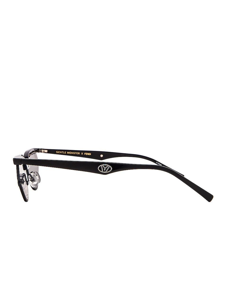 Image 3 of Fendi Small Gentle Fendi Sunglasses in Black