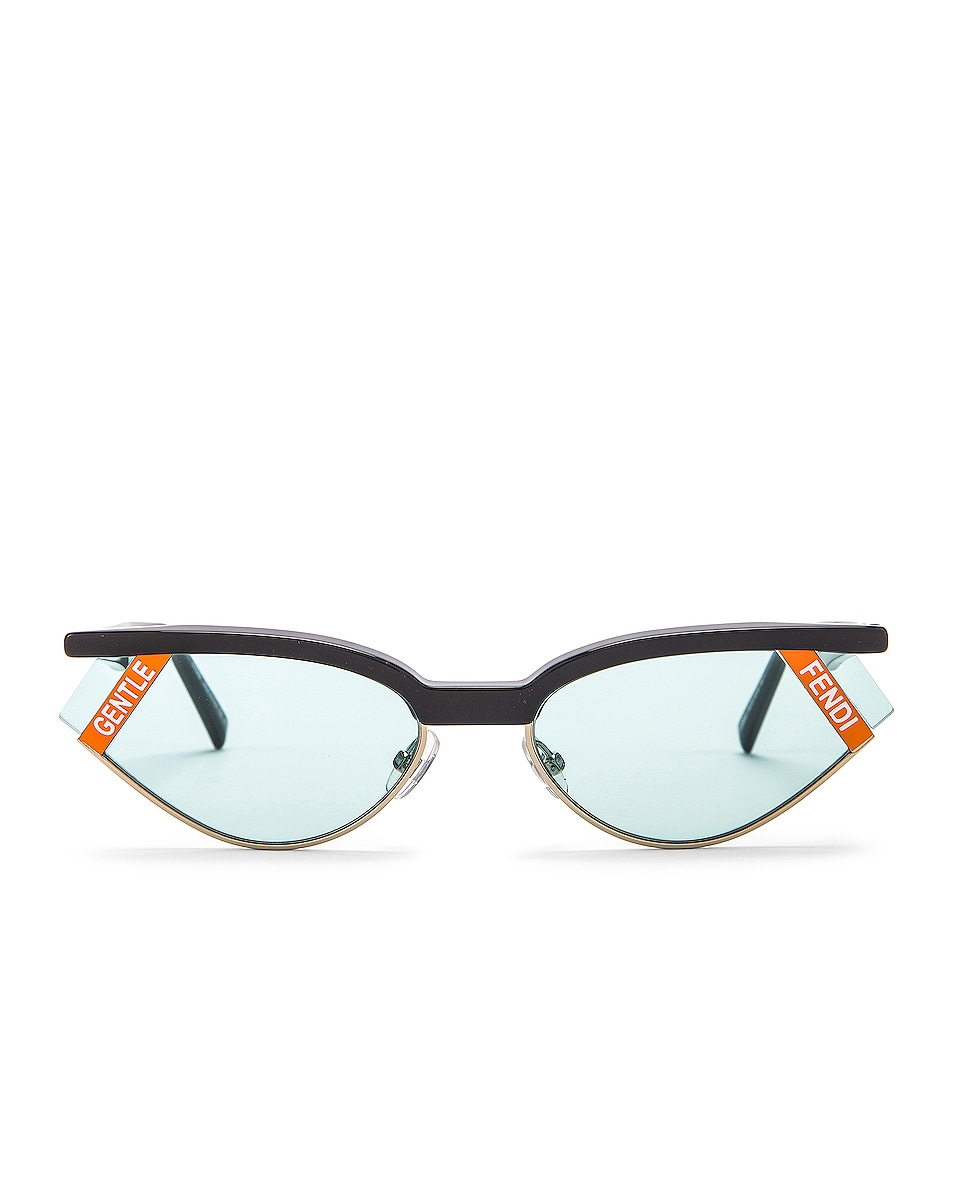 Image 1 of Fendi Small Gentle Fendi Sunglasses in Grey