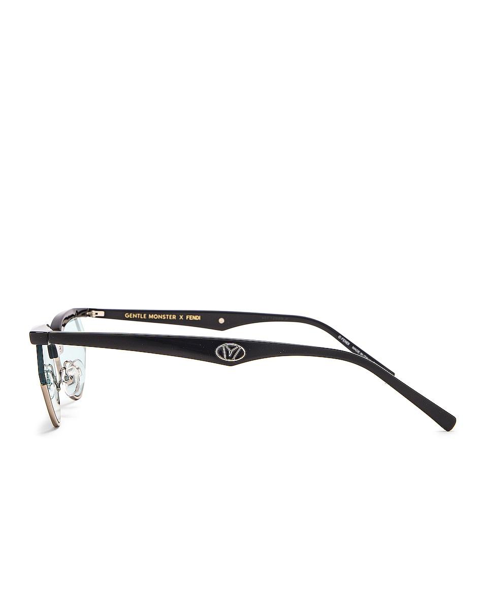 Image 3 of Fendi Small Gentle Fendi Sunglasses in Grey