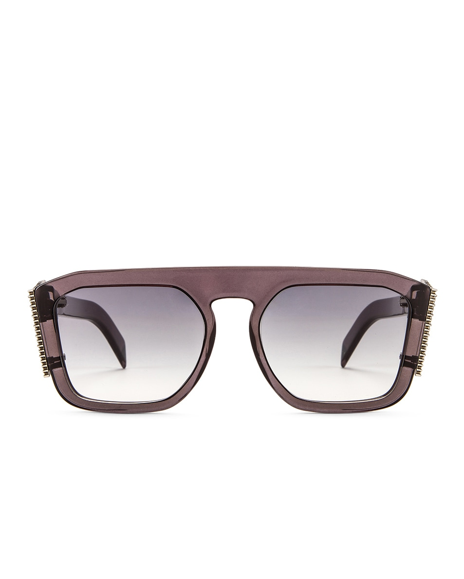 Image 1 of Fendi FFreedom Square Sunglasses in Grey & Dark Grey Gradient