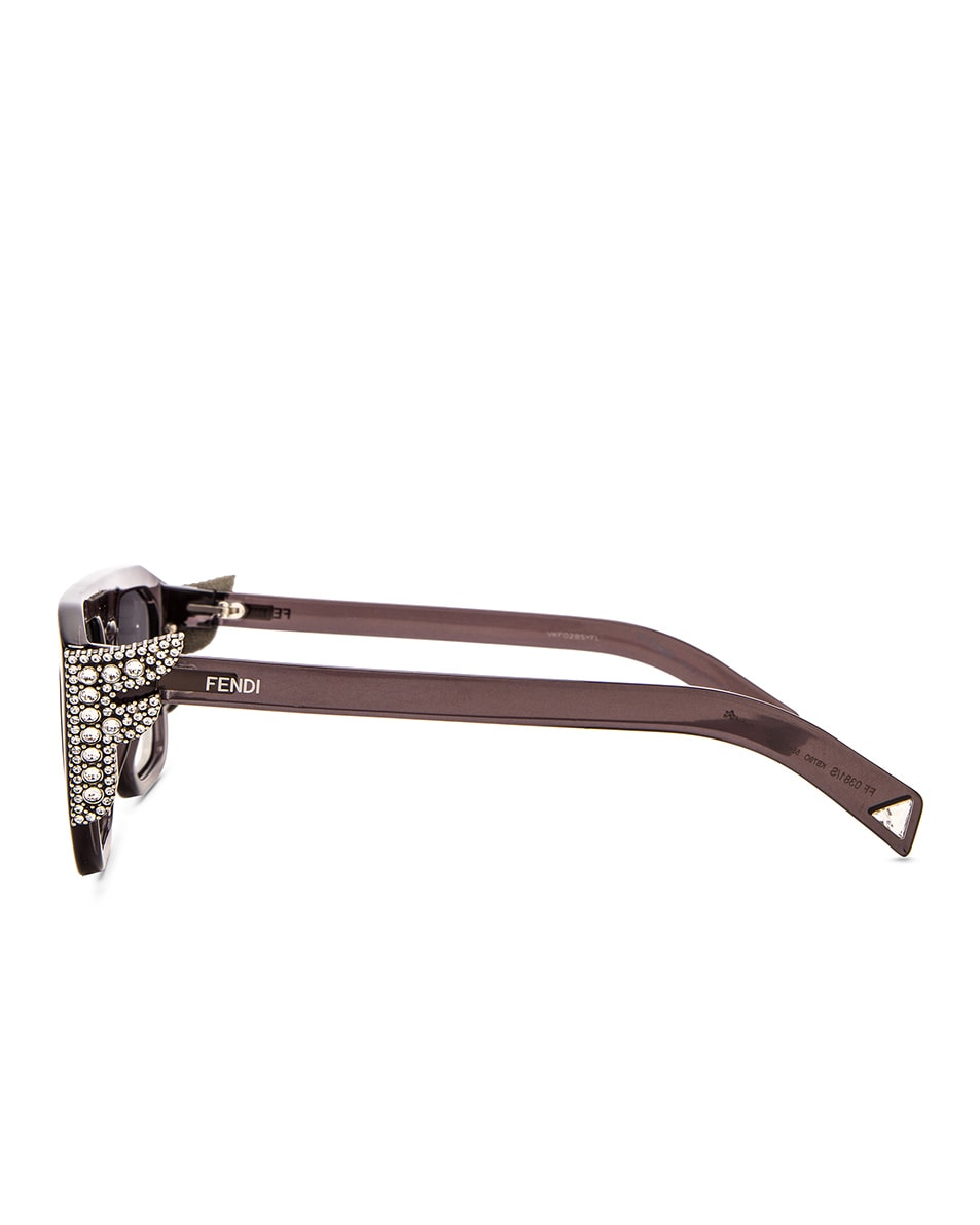 Image 3 of Fendi FFreedom Square Sunglasses in Grey & Dark Grey Gradient