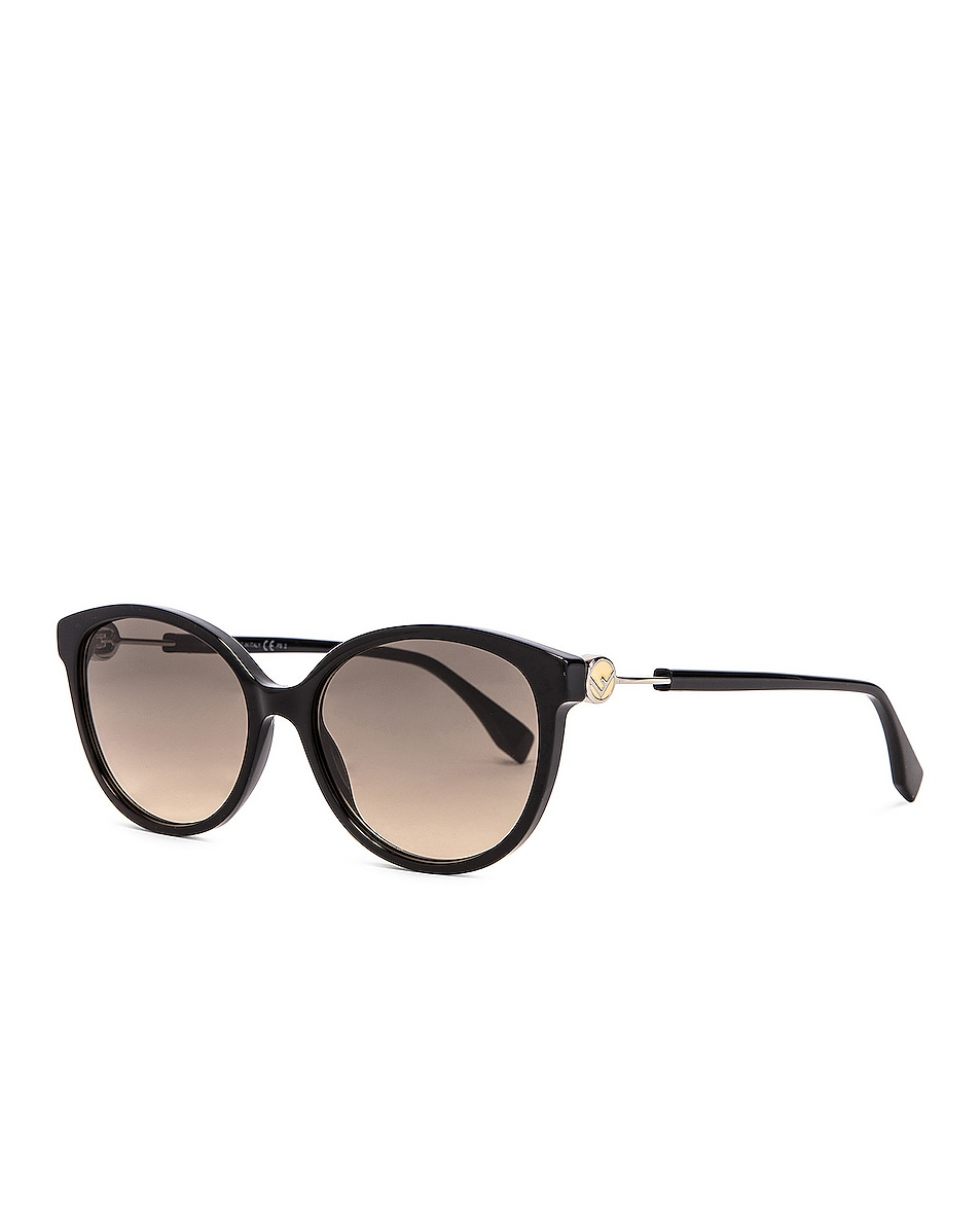 Image 2 of Fendi Round Sunglasses in Black