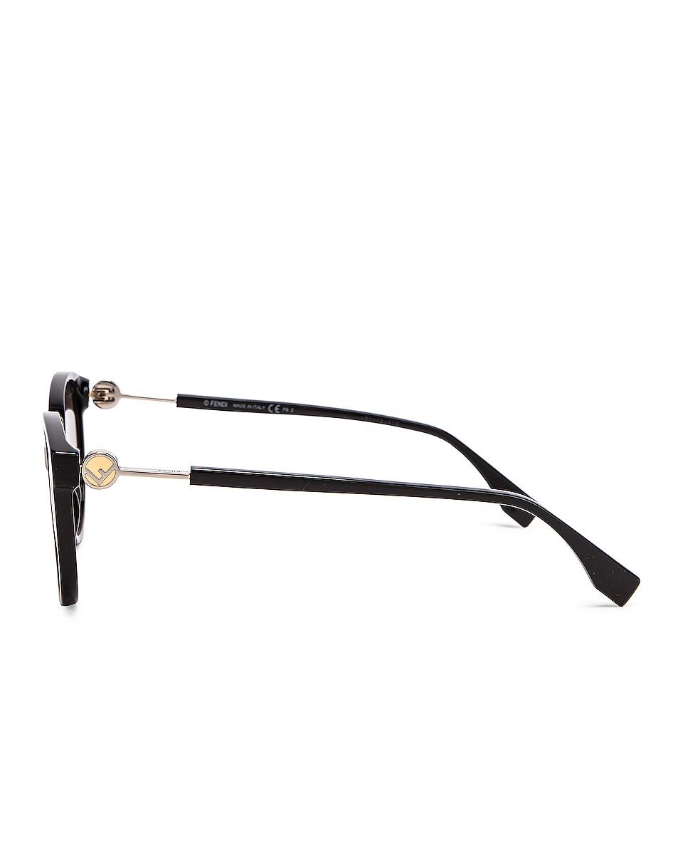 Image 3 of Fendi Round Sunglasses in Black