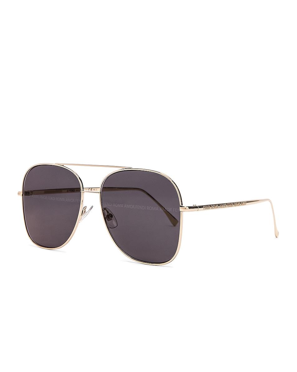 Image 2 of Fendi Metal Sunglasses in Grey