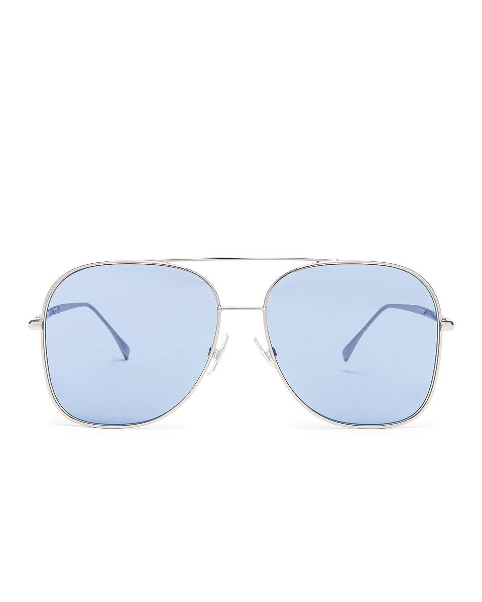 Image 1 of Fendi Metal Sunglasses in Pall Azure