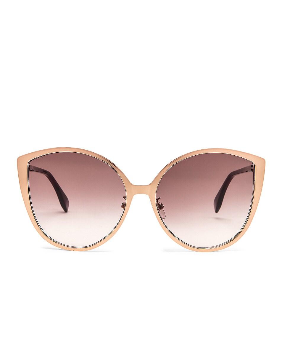 Image 1 of Fendi Cat Eye Sunglasses in Gold Copper