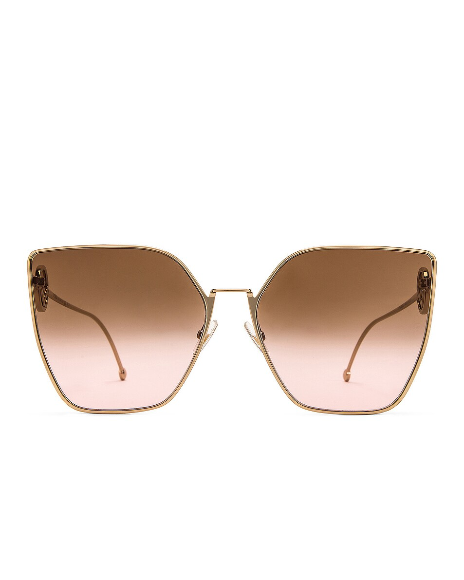 Image 1 of Fendi Oversized Square Sunglasses in Pink Gold