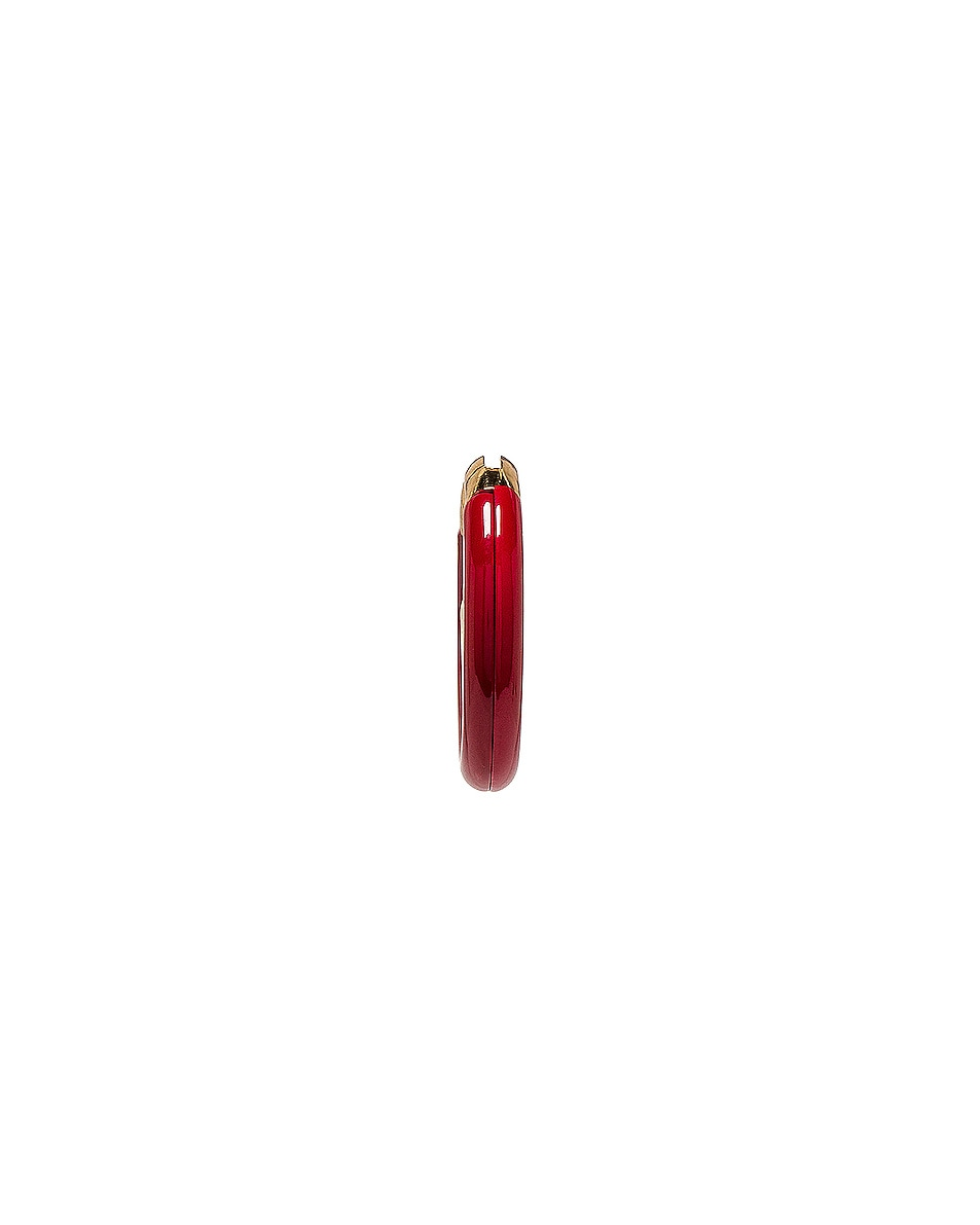 Image 3 of Fendi F is Fendi Earring in Red & Gold