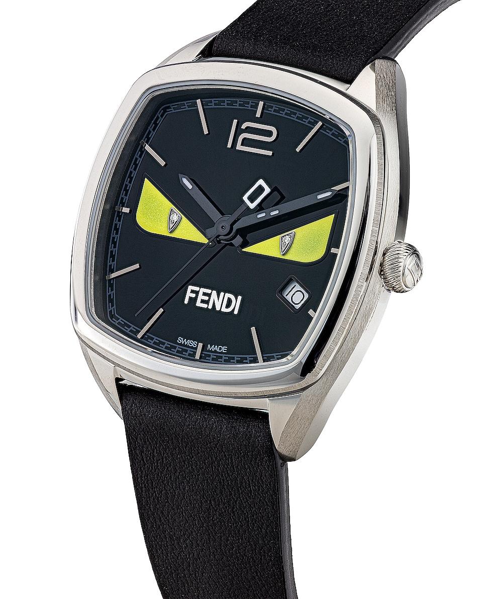 Image 2 of Fendi Momento Fendi Bugs Watch in Black