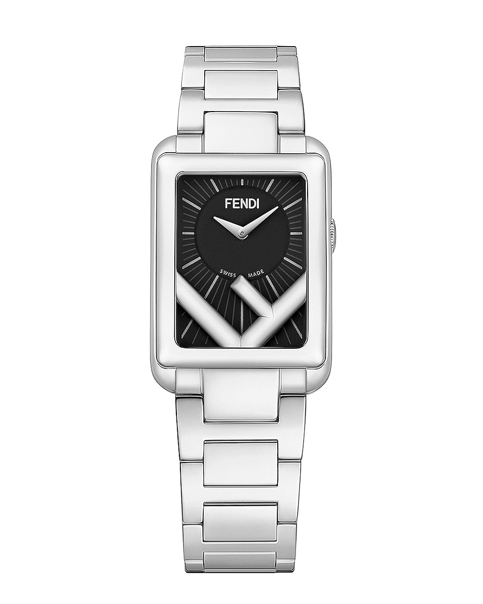 Image 1 of Fendi Runaway Rectangle Watch in Silver