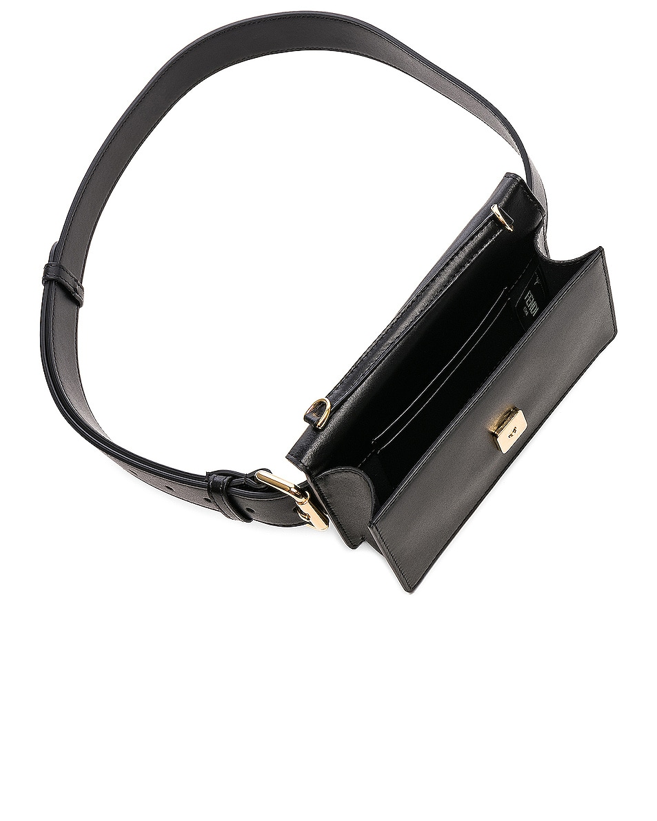 Image 5 of Fendi Logo Embossed Hip Belt in Black & Brown