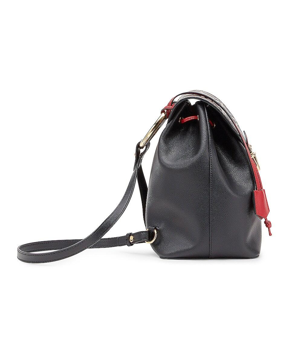 Image 3 of Fendi Logo Print Backpack in Black & Brown
