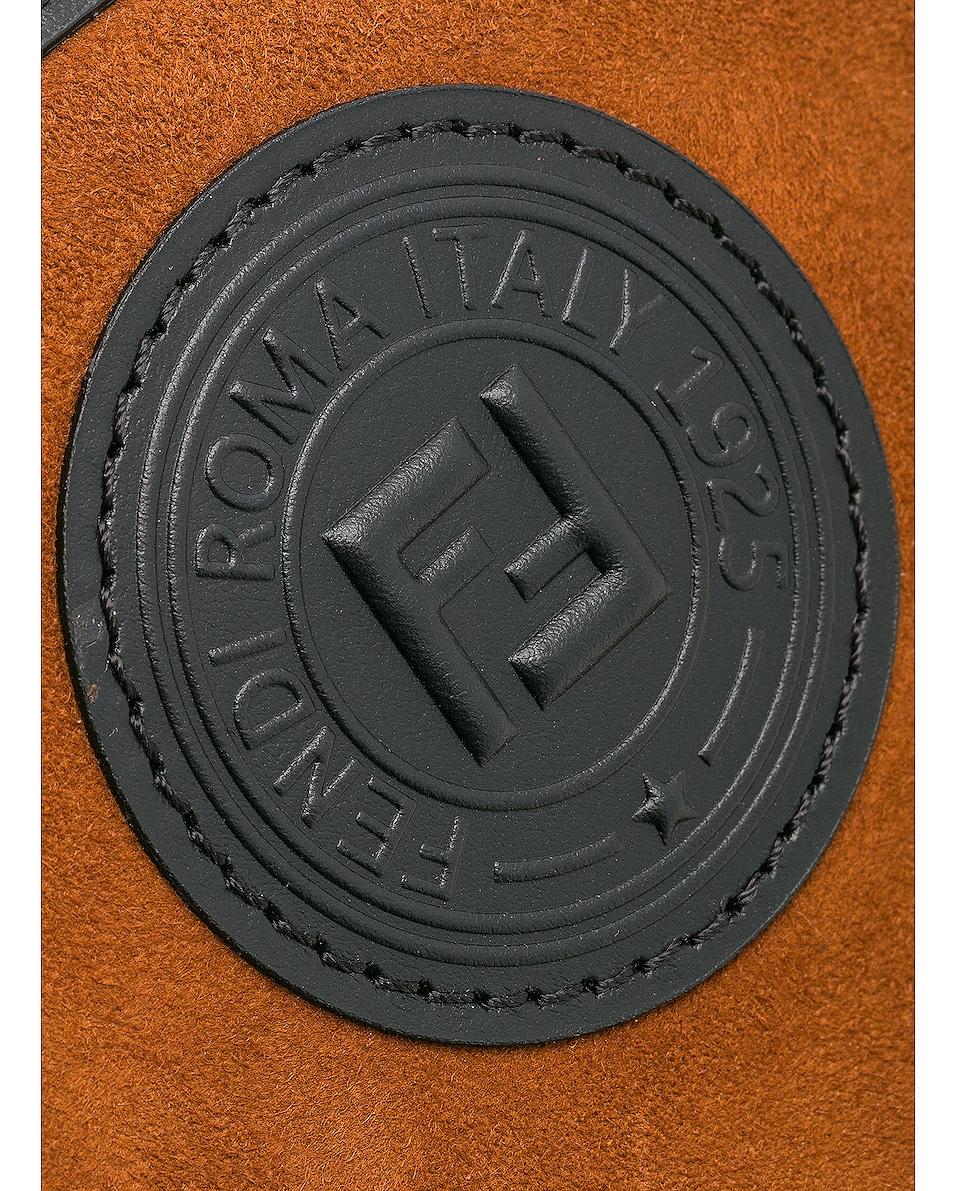 FENDI Cases Mini Suede Logo Emblem Camera Case