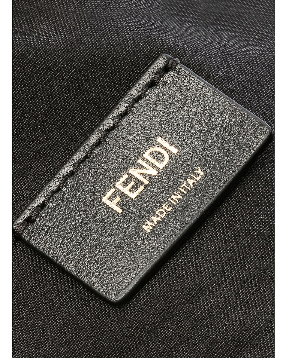 Image 7 of Fendi Mini Logo Emblem Camera Case in Black, Brown & Strawberry