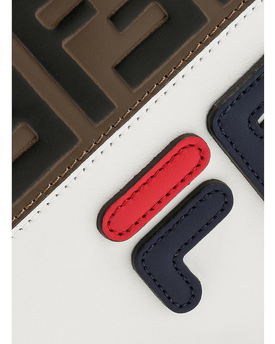 Image 7 of Fendi x FILA Small Logo Pouch in White & Multicolor