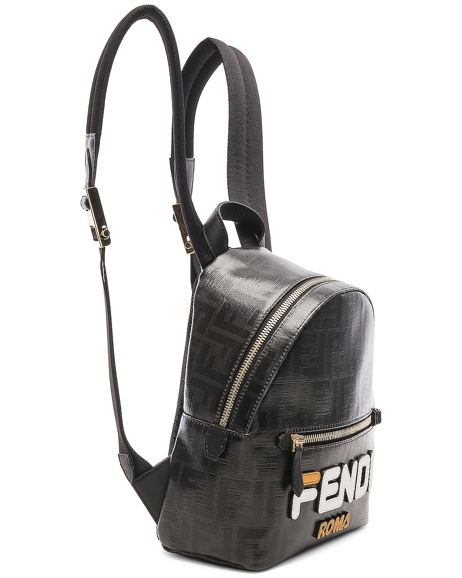 Image 4 of Fendi x FILA Small Logo Backpack in Black
