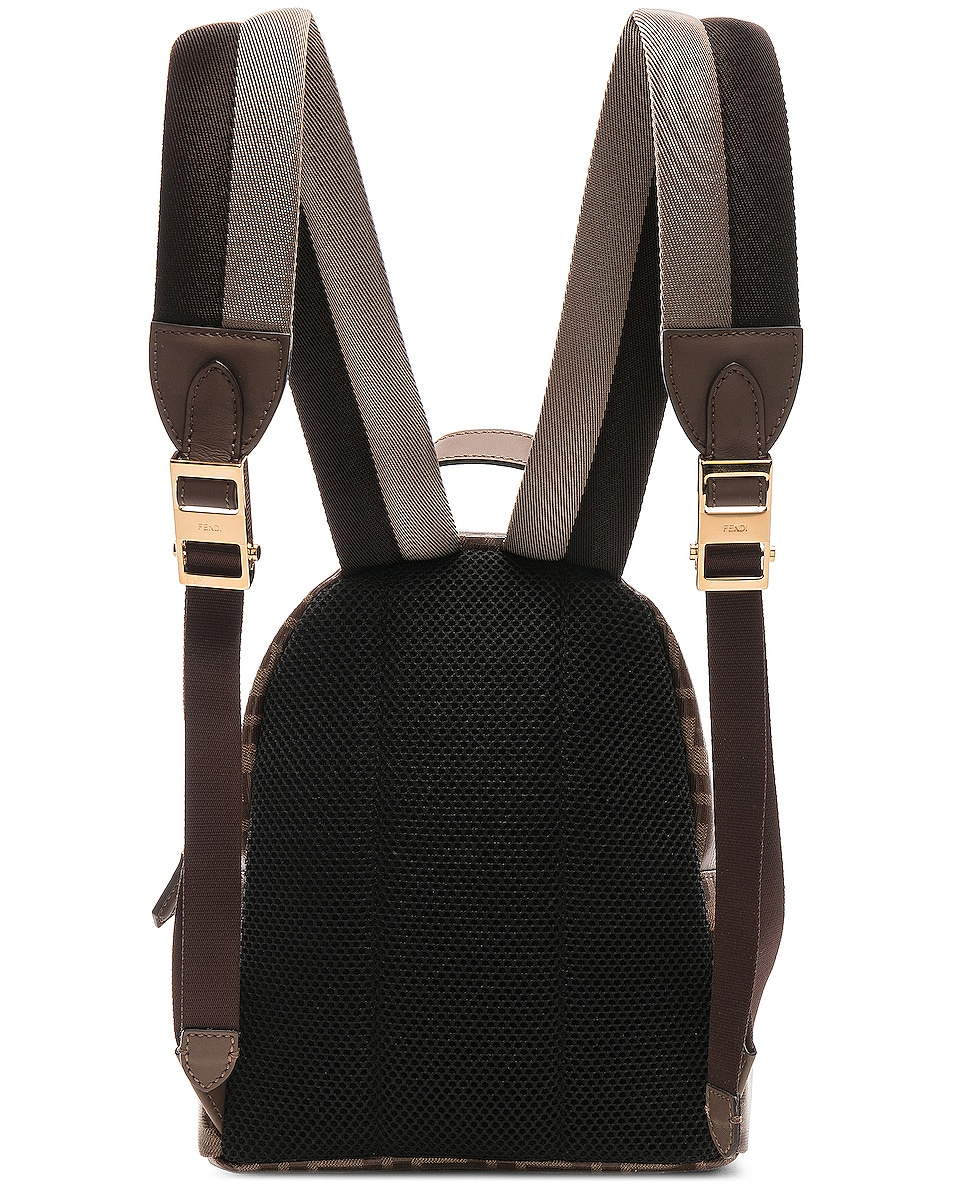 Image 3 of Fendi x FILA Small Logo Backpack in Brown