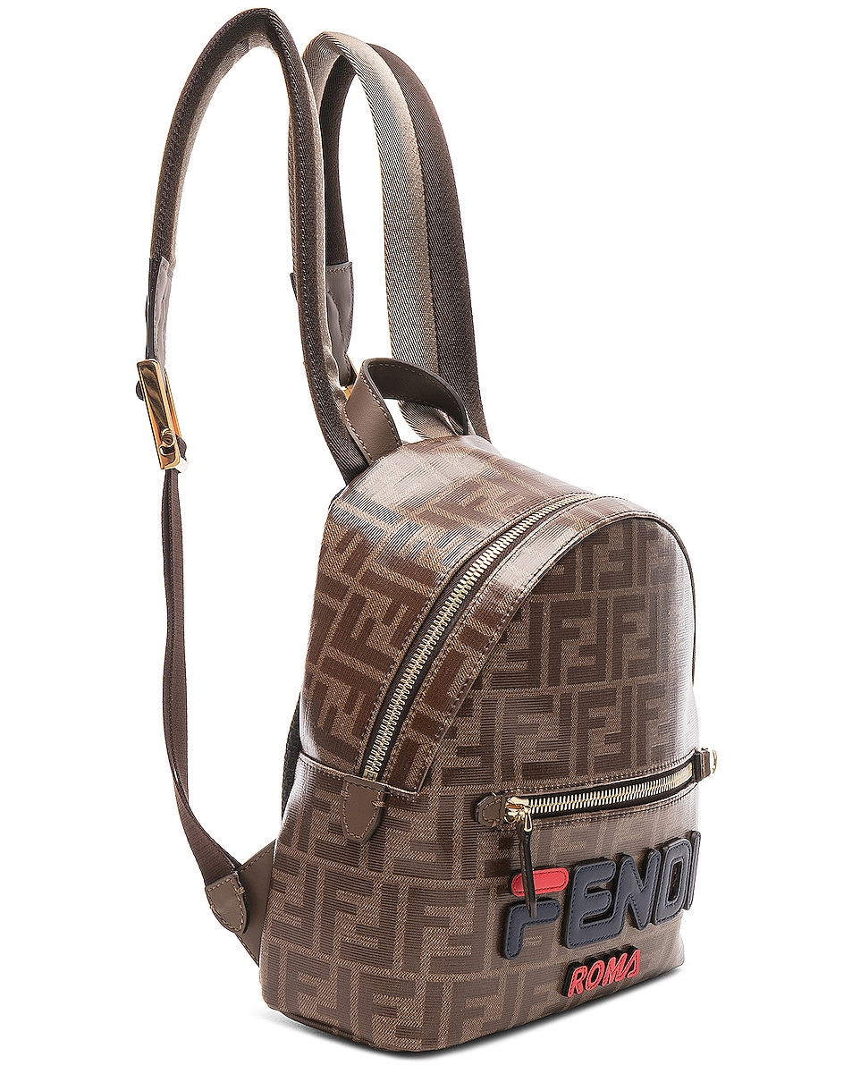 Image 4 of Fendi x FILA Small Logo Backpack in Brown