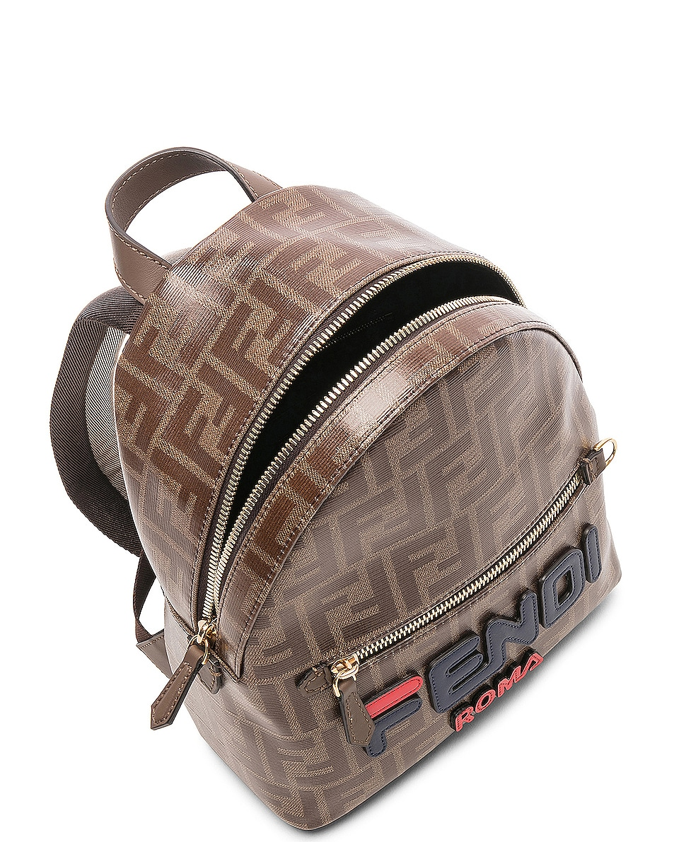Image 5 of Fendi x FILA Small Logo Backpack in Brown