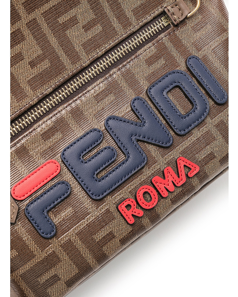 Image 7 of Fendi x FILA Small Logo Backpack in Brown