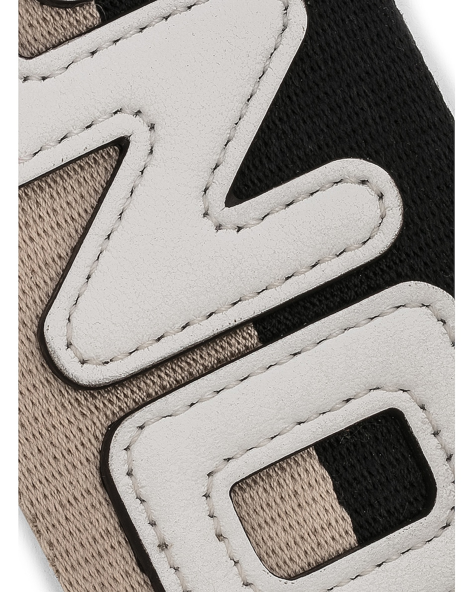 Image 5 of Fendi x FILA Ribbon Logo Bag Strap in Black & Multicolor