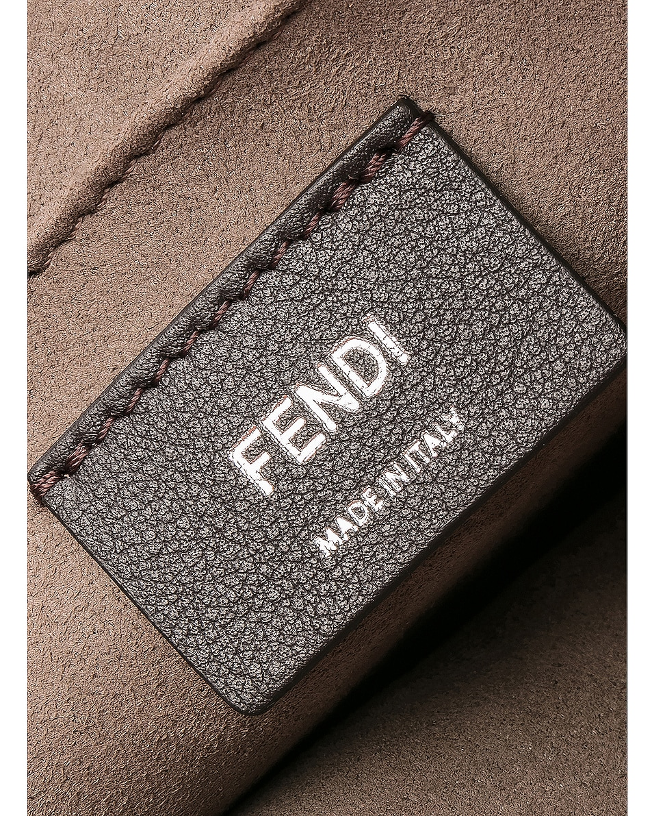 Image 7 of Fendi Logo Flap Bag in Grey