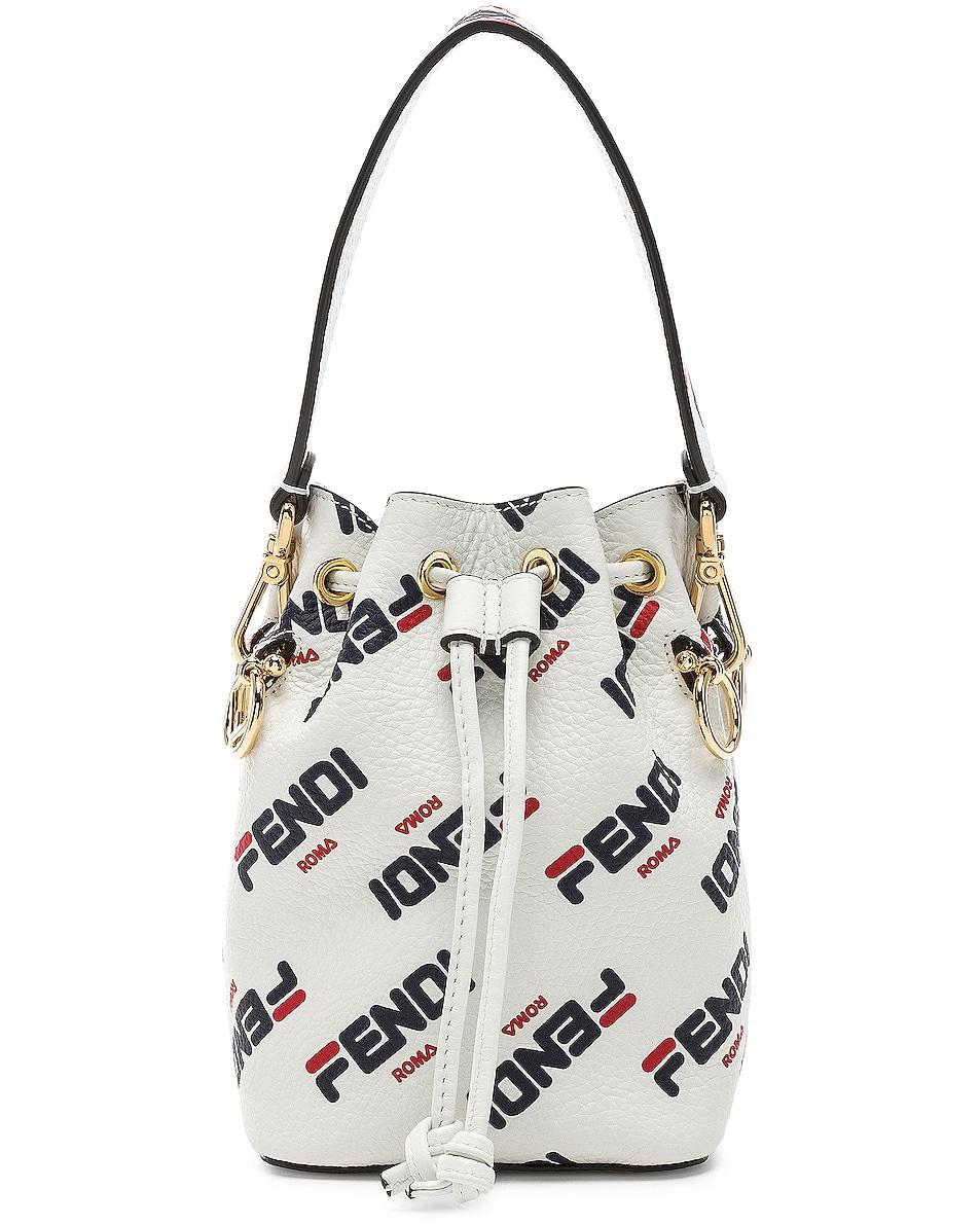 Image 1 of Fendi x FILA Mini Logo Mon Tresor in White