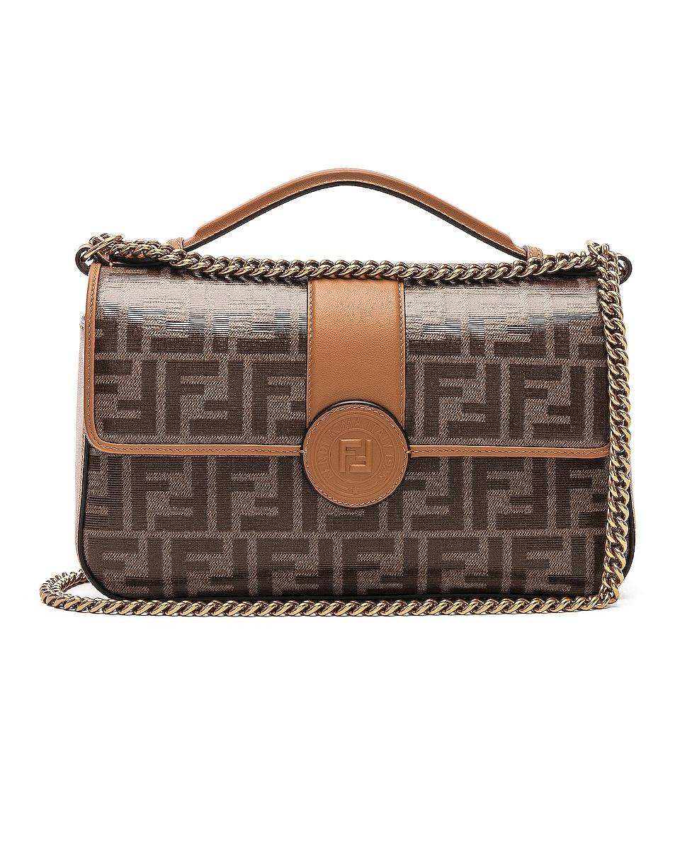 Image 1 of Fendi Double F Shoulder Bag in Tan