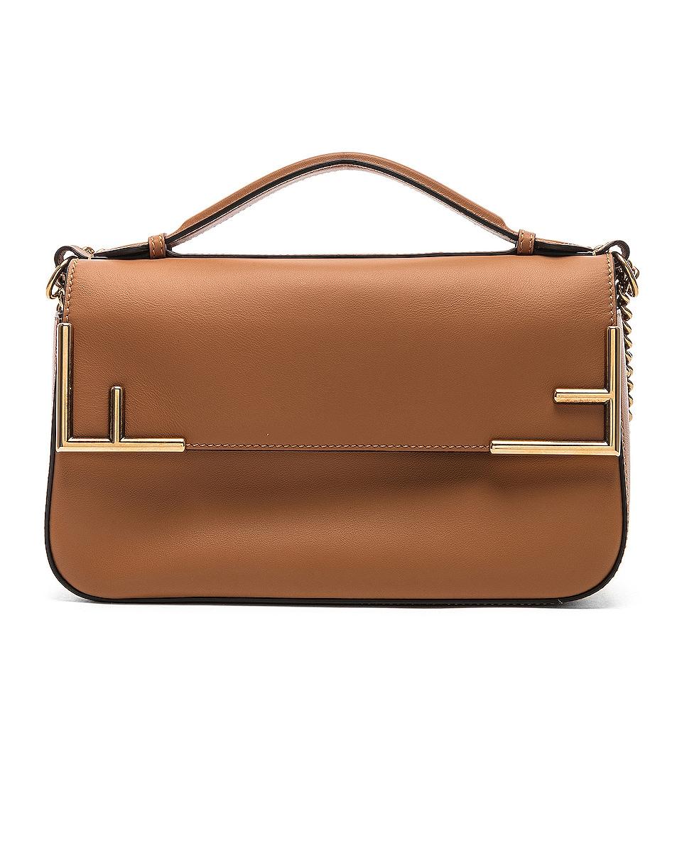 Image 3 of Fendi Double F Shoulder Bag in Tan