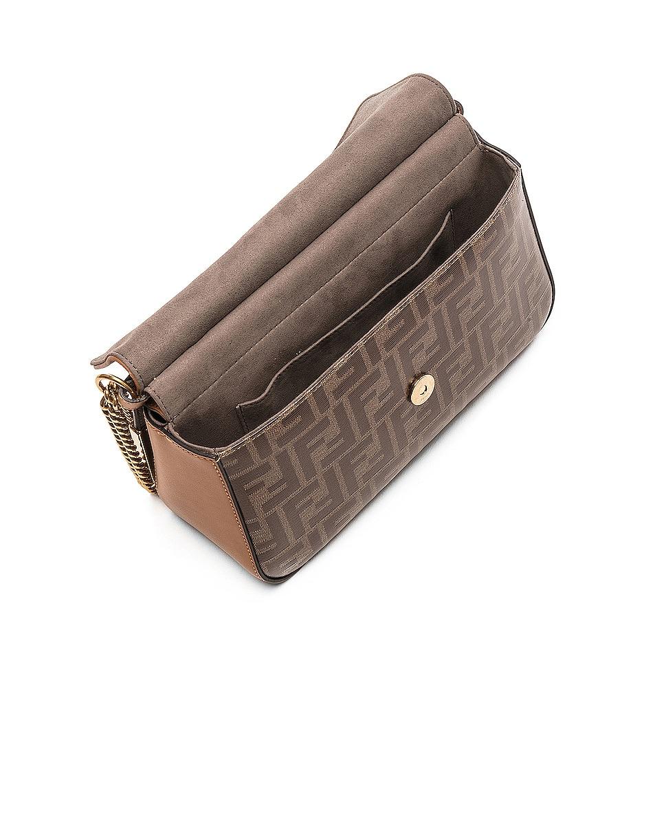 Image 5 of Fendi Double F Shoulder Bag in Tan