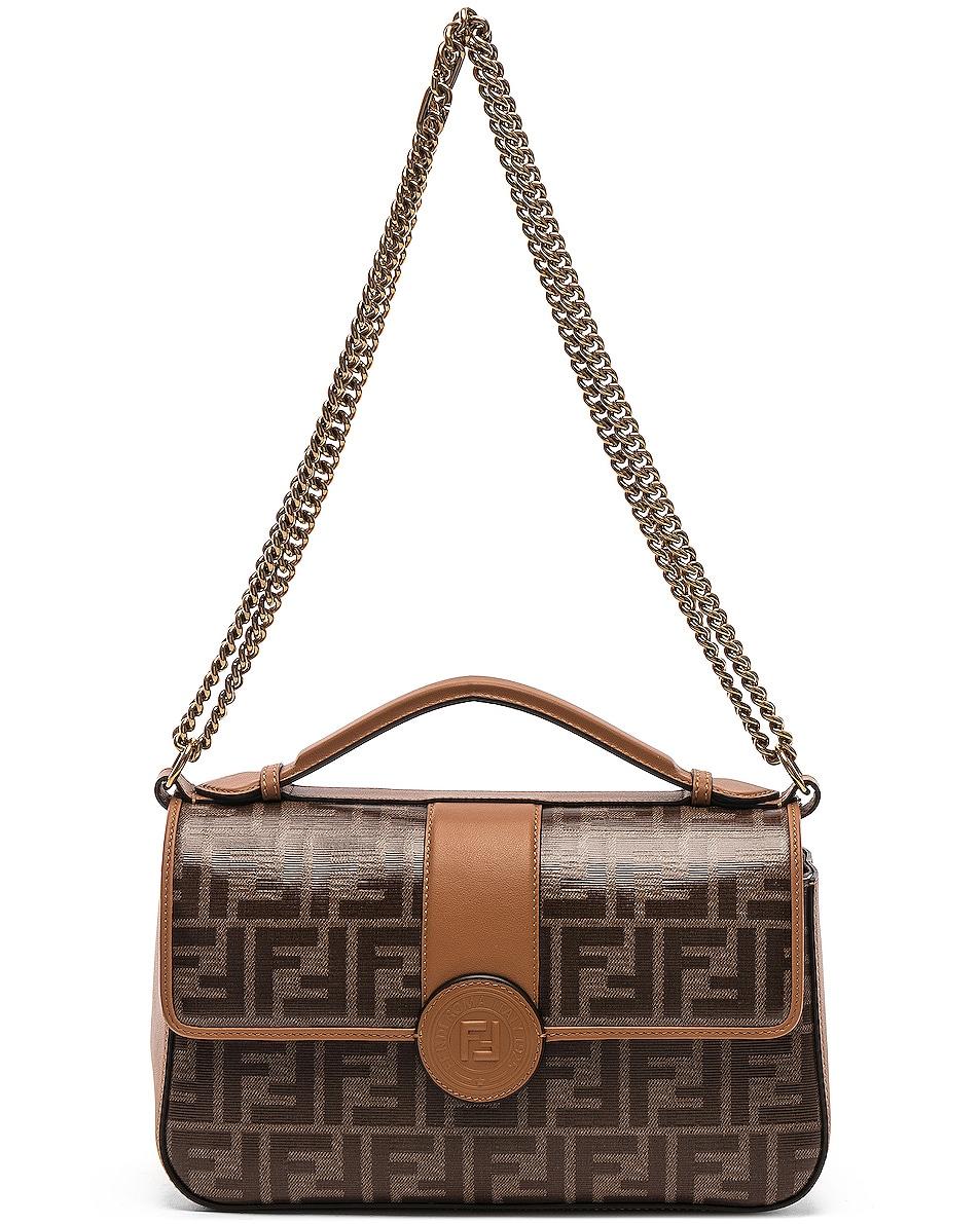 Image 6 of Fendi Double F Shoulder Bag in Tan