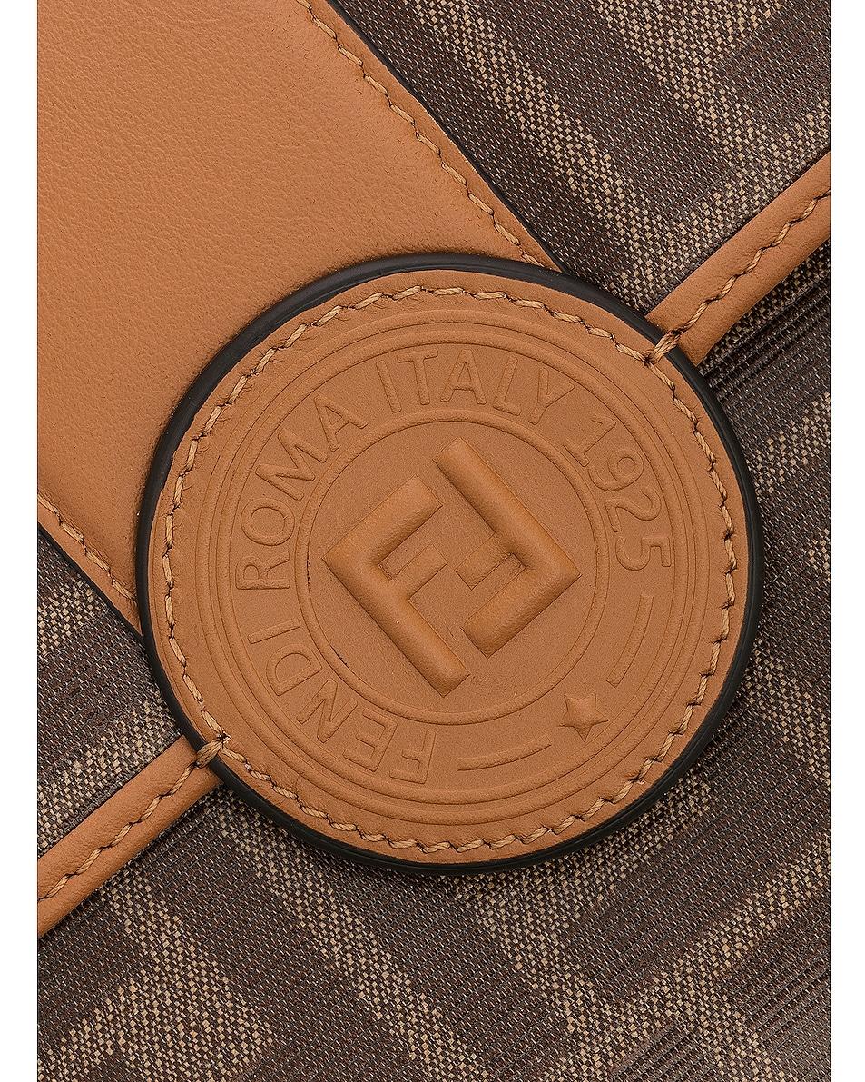 Image 7 of Fendi Double F Shoulder Bag in Tan
