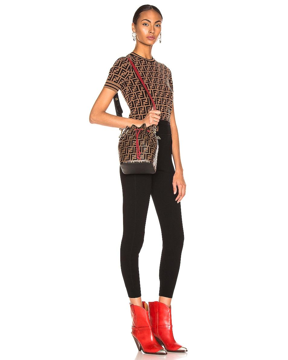 Image 2 of Fendi Mon Tresor Bag in Black & Strawberry