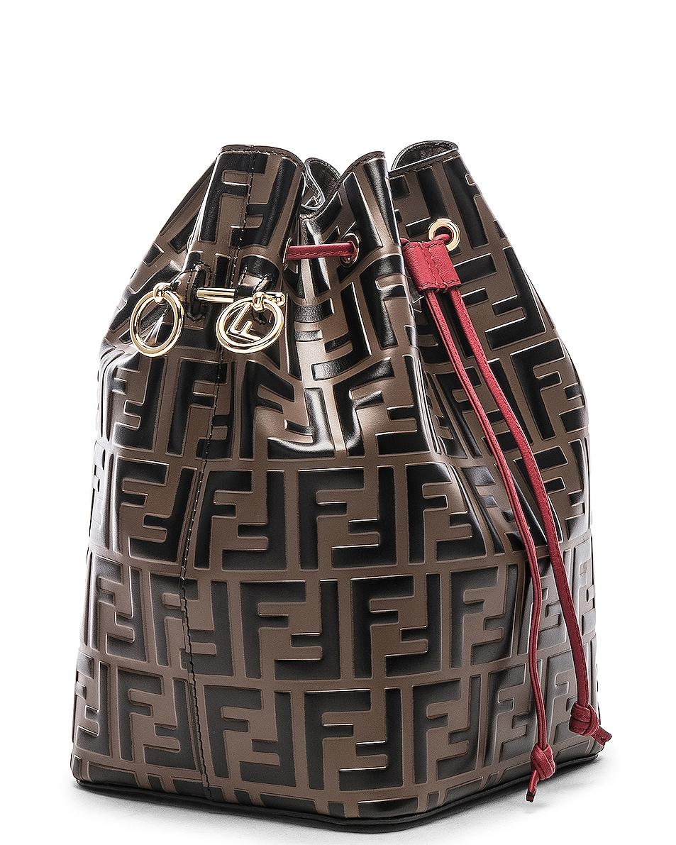 Image 4 of Fendi Mon Tresor Bag in Black & Strawberry