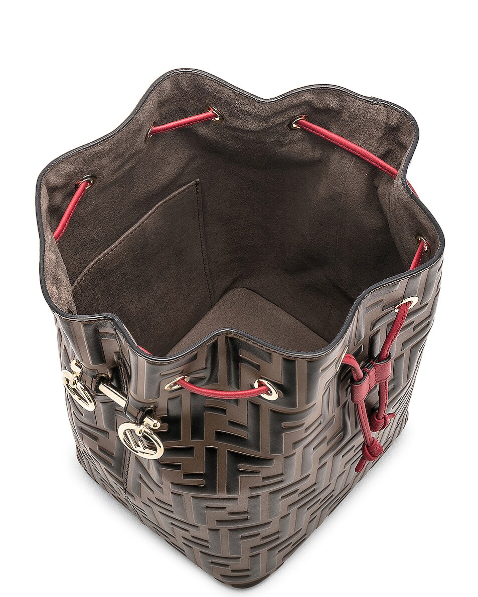 Image 5 of Fendi Mon Tresor Bag in Black & Strawberry